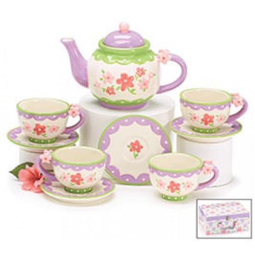 Mini Flowers Tea Set