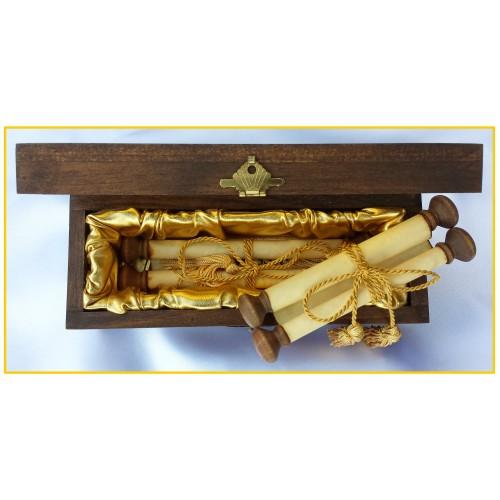 5 x 7 Rolled Scroll Storage Box    (Fits two 5 x 7 Rolled Scrolls)