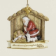 Kneeling Santa Resin Ornament (Philippians 2:10)