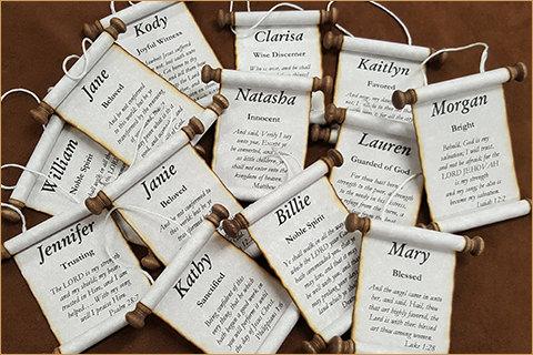 Custom Name Scrolls